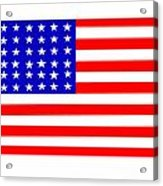 United States 30 Stars Flag Acrylic Print