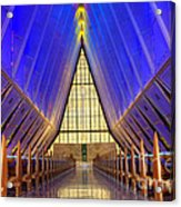 United States Airforce Academy Chapel Interior Acrylic Print