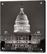 United States Capitol At Night Acrylic Print