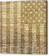 United States Declaration Of Independence Acrylic Print