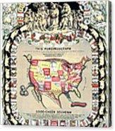 United States Map 1876 Acrylic Print