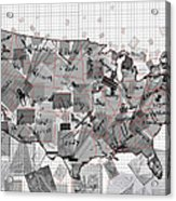 United States Map Collage 3 Acrylic Print