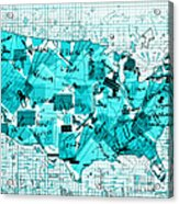 United States Map Collage 8 Acrylic Print
