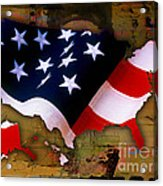 United States Map  Acrylic Print by Marvin Blaine
