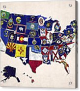 United States Map With Fifty States Acrylic Print