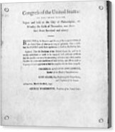 United States Mint, 1792 Acrylic Print