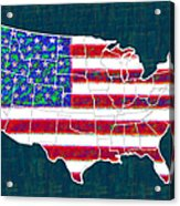 United States Of America - 20130122 Acrylic Print by Wingsdomain Art and Photography