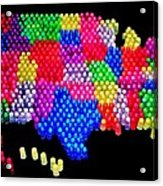 United States Of Lite Brite Acrylic Print