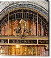 United States Realty Building Entrance Acrylic Print