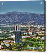 Universal City Warner Bros Studios Clear Day Acrylic Print