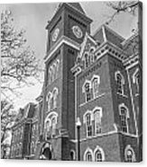 University Hall From Side Black And White  Acrylic Print