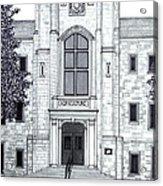 University Of Arkansas Acrylic Print by Frederic Kohli