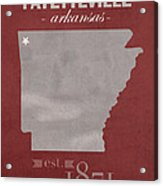 University Of Arkansas Razorbacks Fayetteville College Town State Map Poster Series No 013 Acrylic Print