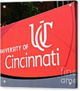 University Of Cincinnati Sign Acrylic Print