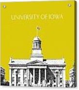 University Of Iowa - Mustard Yellow Acrylic Print