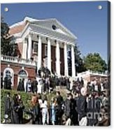 University Of Virginia Rotunda Graduation Acrylic Print