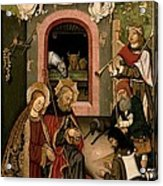 Unknown, Crib Altarpiece, 15th Century Acrylic Print by Everett