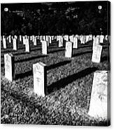 Unknown Soldier Cemetery Acrylic Print