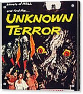 Unknown Terror, Us Poster Art, Bottom Acrylic Print