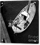 Unloading Fish At Wharf Two Monterey  Circa 1950  Acrylic Print