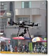 Unmanned Aerial Vehicle With A Digital Camera Acrylic Print