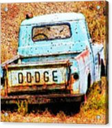 Unsuccessful Dodge Acrylic Print