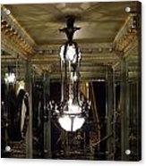 Unusual Lighting Fixture In Laduree On The Champs De Elysees Acrylic Print