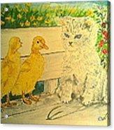 Unwelcome Kitty Acrylic Print