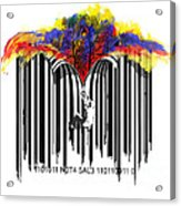 Unzip The Colour Code Acrylic Print