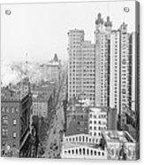 Up Broadway 1901 Acrylic Print by Steve K