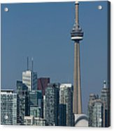 Up Close And Personal - Cn Tower Toronto Harbor And Skyline From A Boat Acrylic Print