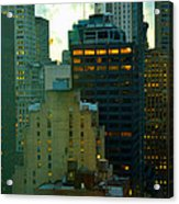 Up - Skyscrapers Of New York Acrylic Print