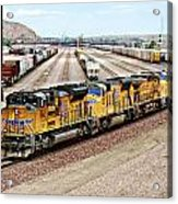 Up8845 Eastbound On The Main Line Acrylic Print