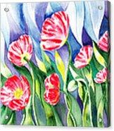 Upcoming Wind Poppy Field Acrylic Print by Irina Sztukowski