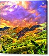 Upcountry Maui Sunset Acrylic Print