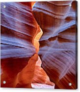 Upper Antelope Canyon Tones And Curves Acrylic Print by Robert Jensen