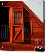 Upper Barn Door-3704 Acrylic Print