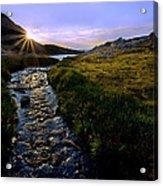 Upper Blue Sunrise Acrylic Print