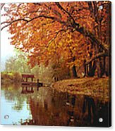 Upper Charles River in Autumn Acrylic Print