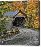 Upper Falls Covered Bridge Acrylic Print