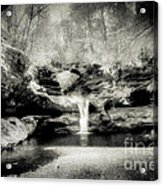 Upper Falls Old Mans Cave In Infrared Acrylic Print