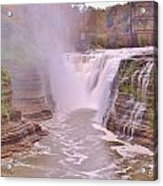 Upper Falls On The Genesee River Acrylic Print