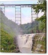 Upper Falls Under The Portage Bridge Acrylic Print