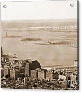Upper New York Bay Vintage Acrylic Print