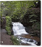 Upper Tier Of Mohican Falls Acrylic Print