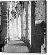 Upper Walkway With Arches Of The Old Roman Colloseum At El Jem Tunisia Acrylic Print