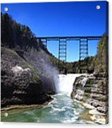 Upper Waterfalls In Letchworth State Park Acrylic Print