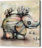 Upside Down Elephants Acrylic Print by Karin Taylor