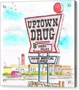Uptown Drug Sing In Route 66, Andy Devine Ave., Kingman, Arizona Acrylic Print