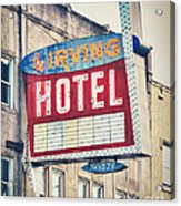 Chicago's Irving Hotel Acrylic Print